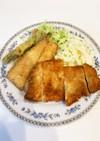 とんかつとアスパラ、白身魚のフライ