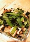 10分で!小松菜と厚揚げの海苔風味炒め