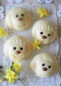 かわいいお顔の白いミルクパン*母の日にも