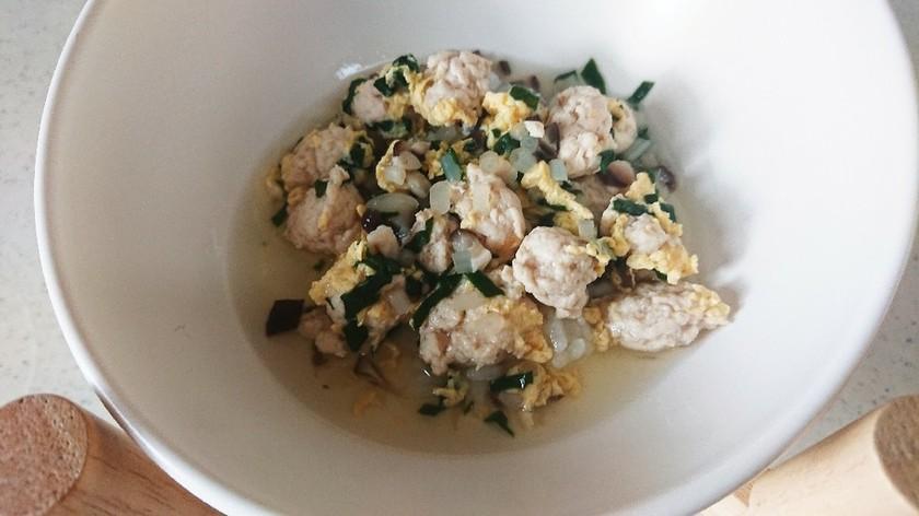 犬用*鶏団子のスープご飯