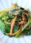 お弁当にも。小松菜とえのきのごま和え