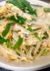 冷凍豆腐のニラ玉