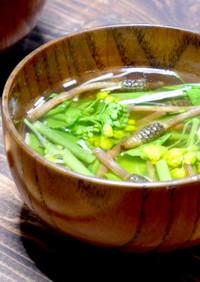 春を味わう☆つくしと菜の花のお味噌汁