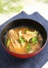 簡単!ブロッコリーと舞茸のお味噌汁