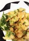 小エビとお豆の天ぷら。