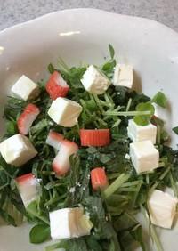 クリームチーズと豆苗のサラダ