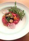 和風ラタトゥイユサラダ トマトのジュレ