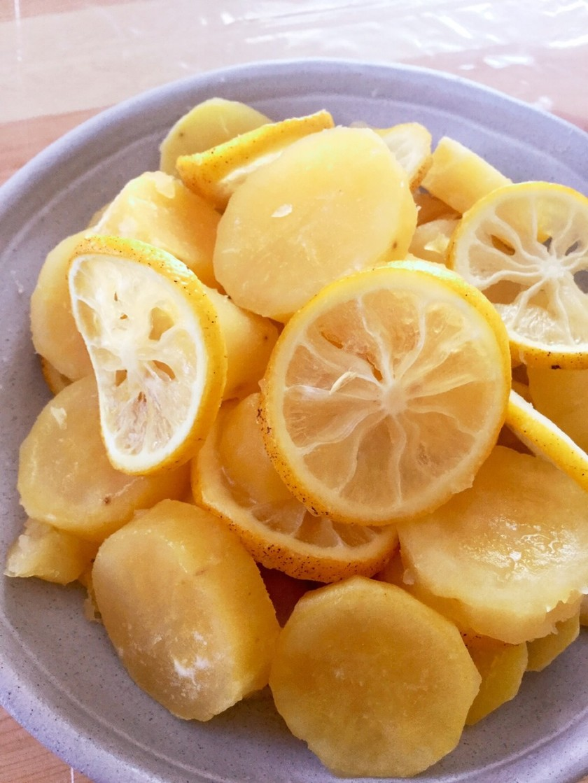 我が家の秘密のさつま芋のレモン煮