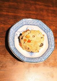 ドライフルーツ胡麻丸パン