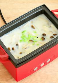 玉ネギとしめじの豆乳スープ