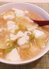 簡単ヘルシーレタスと豆腐のスープ