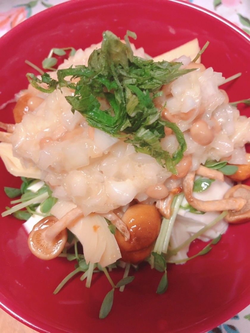 キノコと豆腐のヘルシーサラダ