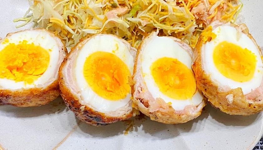 安くて旨い!ゆで卵の肉巻き!