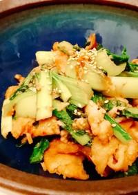 簡単!栄養満点◎豚肉と小松菜の旨味炒め♪