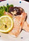 レンジで簡単☆鮭と椎茸の酒蒸し