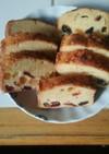 ラム酒香るドライフルーツのパウンドケーキ