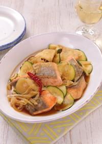 洋風アレンジ☆鮭と夏野菜の南蛮漬け
