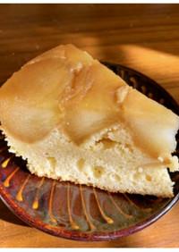 リンゴたっぷりのタルトタタン風ケーキ