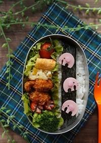 魚肉ソーセージでぞうさんのお弁当