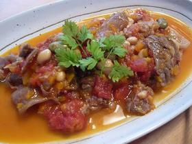 絶品♪牛スジとお豆のイタリア風トマト煮