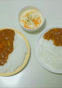 牛脂入り豚肉カレー&コールスロー❁⃘*.
