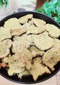 江戸菜で犬用クッキー