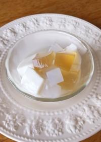 愛玉子 杏仁豆腐 ナタデココ蜂蜜シロップ