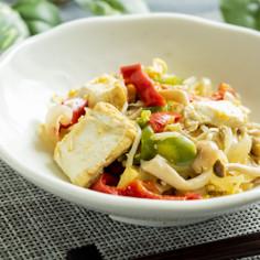 厚揚げと野菜の炒め物【入院食⑯昼/主菜】