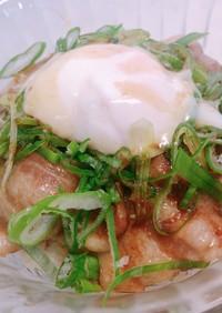 温玉のせ豚丼(帯広風)