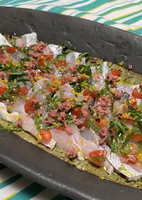 白身魚の桜カルパッチョ