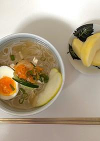 ダイエットに!蒟蒻麺で本格韓国冷麺♡