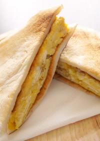 糖質オフ♪厚焼き卵のはんぺんサンド