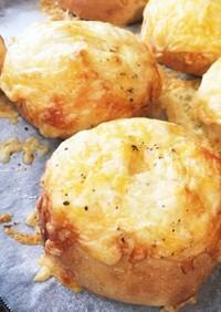 クリームチーズinWチーズパン♪