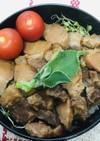 丼弁当●豚スペアリブの甘煮丼