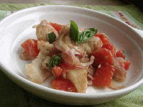 白身魚のバルサミコ酢マリネ