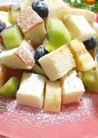 幸せモーニング*フルーツサラダ風トースト