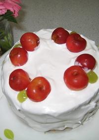 卵・乳製品なし☆デコレーションケーキ