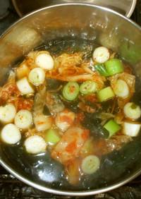 キムチスープ♪簡単酸っぱいキムチを消費
