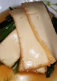レンチン5分!小松菜と厚揚げの煮物