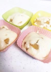りんごの米粉蒸しパン