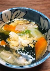 野菜とわかめの卵スープ *☻*