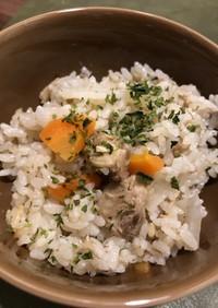 ホットクック+鯖缶で簡単炊き込みご飯