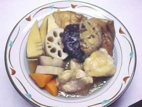 板麩と鶏肉のじぶ煮