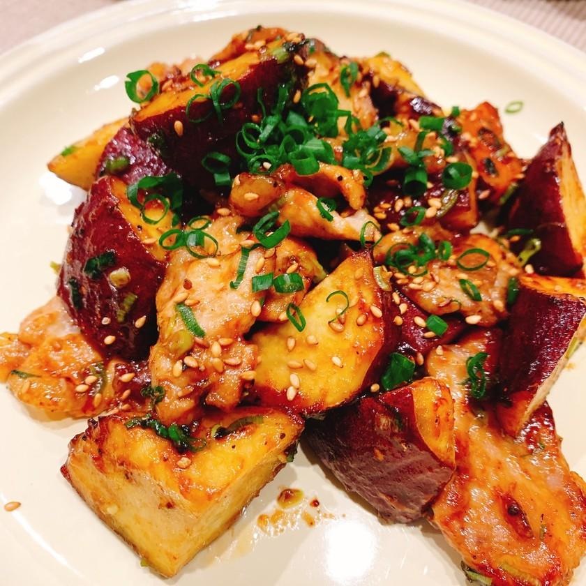 コクうま!豚バラ肉とサツマイモの甘辛炒め