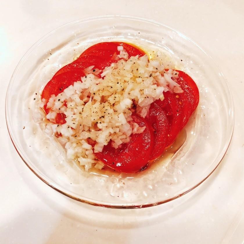 トマトのマリネ風 新玉ねぎドレッシング