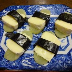 たくあんとチーズでおつまみ♪