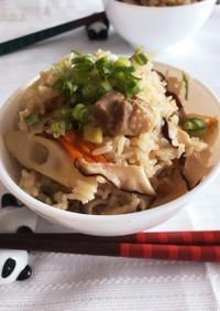 簡単楽!鶏もも肉と竹の子の炊き込みご飯