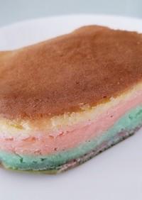 レインボーホットケーキ