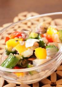 雑穀と野菜のタブレ