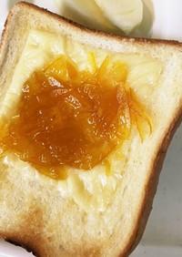 *八朔ジャム*アレンジ》チーズトースト